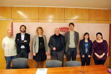 Pere Benet, Lluís Aranda, Noemí Nicolàs, Jordi Solé, Anna Maria Asensio i Pilar Aznar