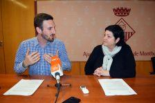 Isidre Pineda i Pilar Aznar, durant la roda de premsa