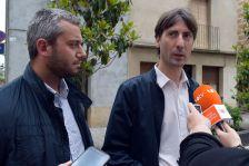 David Través i Jordi Solé, durant la presentació de l'inici del procés de licitació de l'eina per a l'administració electrònica