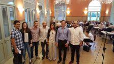El grup redactor del projecte, amb els regidors Mauri i Pineda