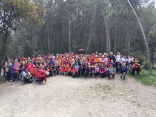 Grup de caminaires de la Passejada per a la gent gran a Sant Andreu de la Barca