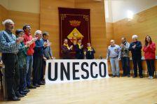Presentació de la catifa floral a la UNESCO