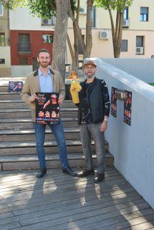 Isidre Pineda, regidor de Cultura, i Manel Ricart, director artístic del Festival de Titelles