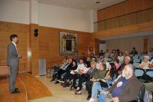 Jordi Solé en un moment de la seva conferència