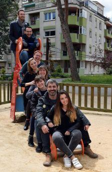 Alguns dels agents organitzadors del Sant Jordi 2018, de Caldes de Montbui