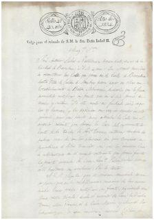 Sol·licitud d'obra del 25 de novembre de 1834