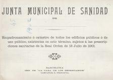 """Document del mes d'agost: """"Catastro de todos los edificios públicos o de uso público. 1902"""""""