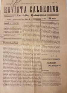Núm.5 Revista Calderina (febrer de 1909)