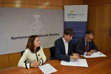 Signatura conveni entre Pimecomerç i l'Ajuntament