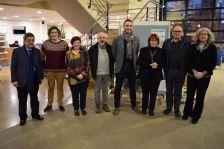 Membres de la Comissió Canals en la presentació de l'Any Canals