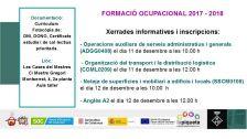 Xerrades informatives i inscripcions a cursos de formació ocupacional