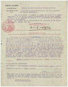 Pressupost de l'Electra per l'enllumenat de l'Aplec de 1924