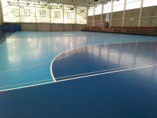 Nou paviment del Pavelló Municipal Bugarai