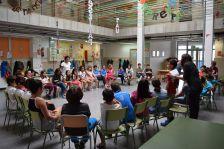 Reconeixement als joves mediadors de pati de l'Escola Montbui