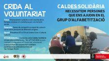 Imatge de la Crida al Voluntariat- Grup d'Alfabetització